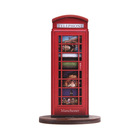 Delicate red telephone booth wood 3d ornaments for British souvenirs