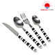 Stainless Steel Fork Spoon Knife With Porcelain Handle,Stainless Steel Knife And Fork Spoon Travel Set Camping Knife Fork Spoon