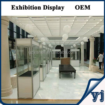 Exhibition Stand Display Portable Glass Aluminum Display Shelf ...
