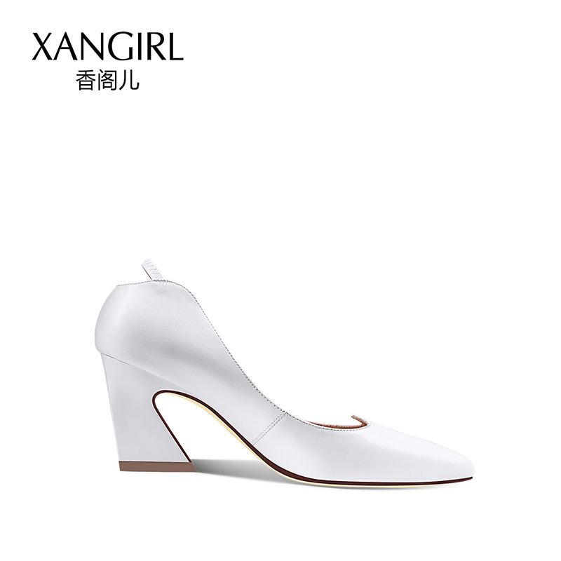 new on sheepskin shoes material metal slip for styles decoration 2018 heel women high fEdqx0pwdF