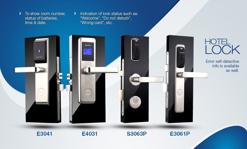 Digital Rfid Stainless Steel Door Lock Hotel Credit Card