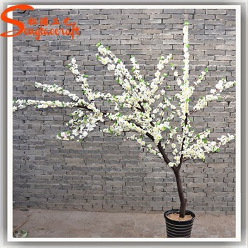 St Cr13 Artificial White Cherry Blossom Wedding Decor Trees And Branches For