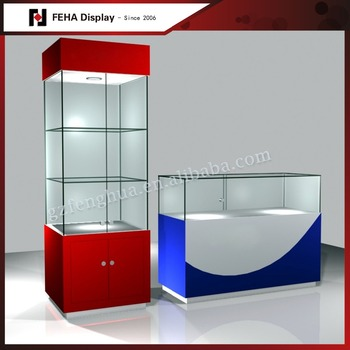 Lighted Glass Display Cabinet / Used Glass Display Cases