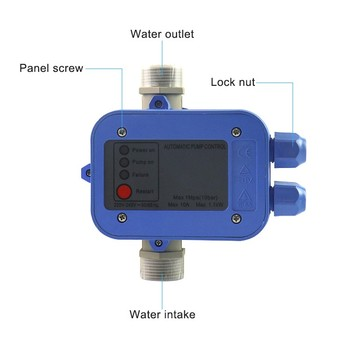 manual low water automatic reset pressure activated switch