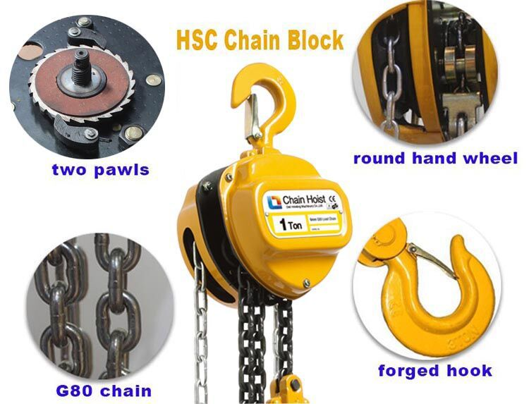 Durable Manual Chain Block Parts Of