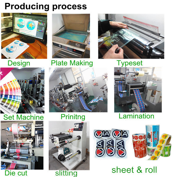 Adhesive waterproof labels and stickerscustom cosmetics label sticker printing with free sample