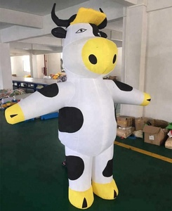 inflatable dance cow model big advertising inflatable cow mascot for sale