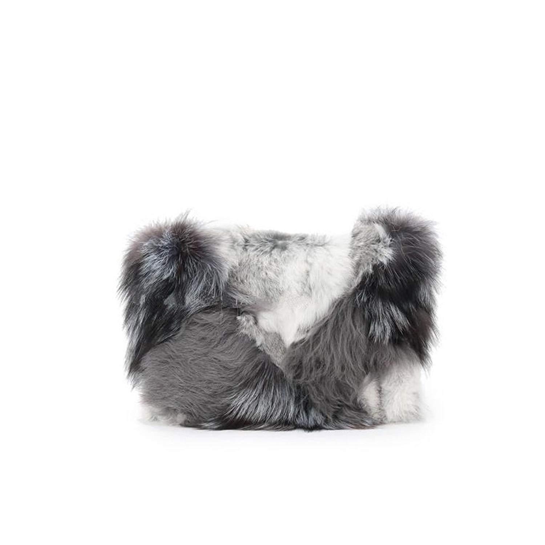 a1d21b512ae0 Get Quotations · New fashion trend fur bag evening bag fox fur lamb rabbit  fur stitching clutch bag fur