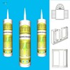 China gp sealant compound glass bonding adhesive clear one component rtv silicone sealant