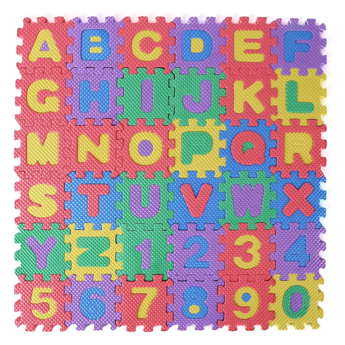 Educational Aspiring Foam Puzzle Mat Alphabet Floor Abc Letters Play Interlocking Kids Educational