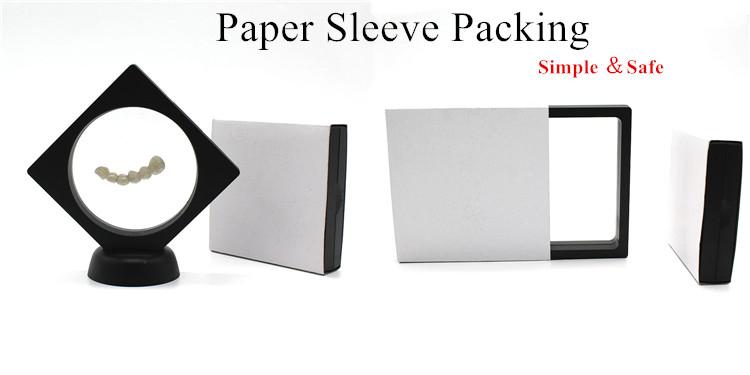 18x7x2 cm stampa di Marchio 3D Telaio Membrana Box Sospensione Display Contenitore di Monili di Plastica