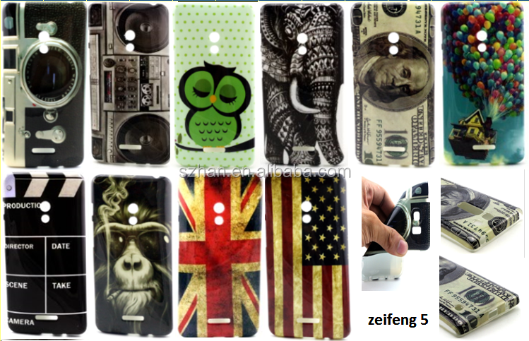 New camera dollars flag printing Flower TPU Case Cover for ASUS ZenFone 5