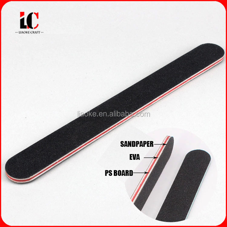 Promotional Logo Printed wooden Nail file 100/100 mini disposable nail file