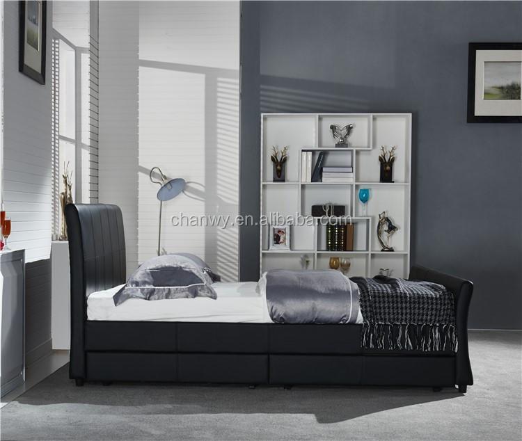 Fabric Storage Bed Crush Velvet Gas Lift Prado Bed Velvet