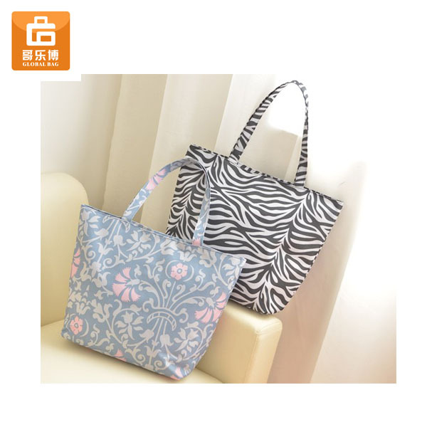 Hot Sale Zebra Resuable Print Shopping Bag