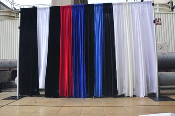 Adjustable Curtain Stands And Background Backdrop For Church Stage