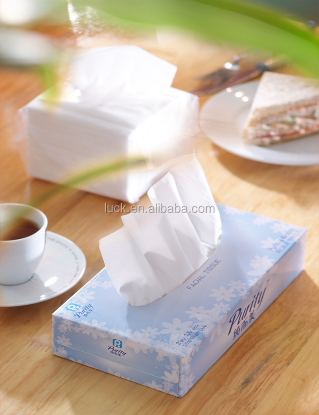 fine quality soft 3 ply facial tissue