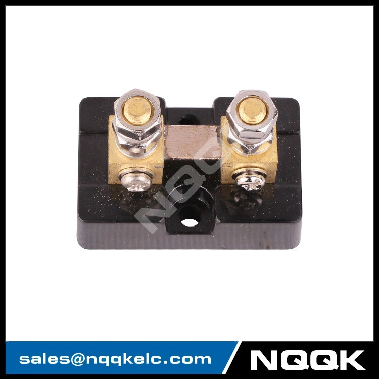 3 FL USA type 50A 50mV DC brass Electric current Shunt Resistors with base.JPG
