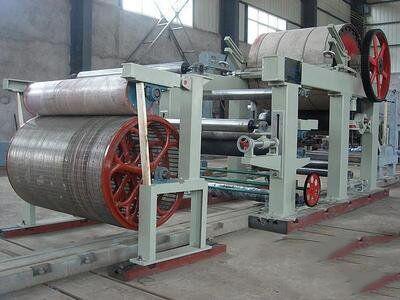 中国サプライヤー小さなトイレットペーパー製造機の生産ライン 787 紙ミル