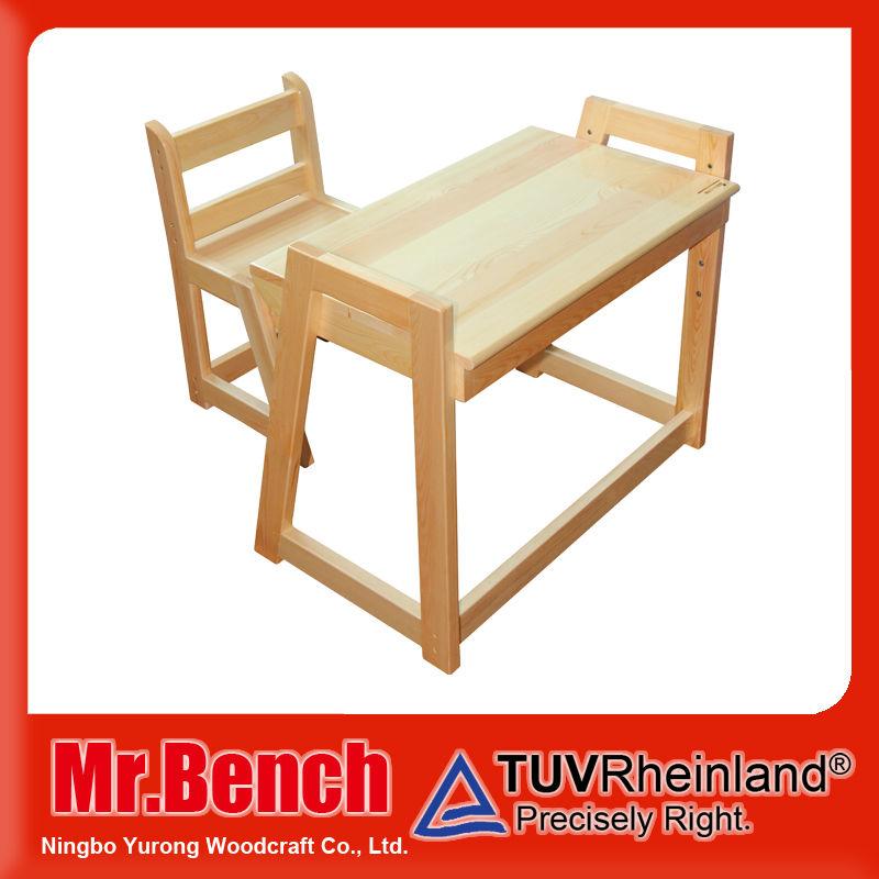 Ni os de altura ajustable escritorio y silla de madera for Sillas escritorio modernas