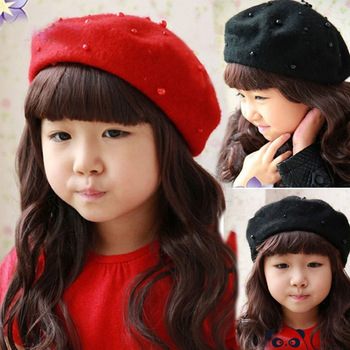 cheap cotton slouchy knit wool winter basque barrette felt girls berets for  sale ad1cf31f262
