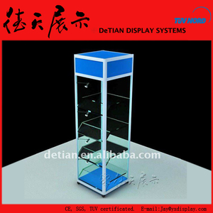 50x150cm Customized Shanghai Glass Nail Polish Display Case With Lock