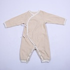 Organic cotton stripe long sleeve summer newborn baby boys clothes romper