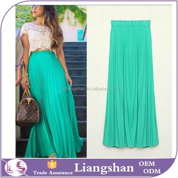 Faldas Moda 2015 OEM personalizada verano suelta Falda larga gasa  transparente falda Maxi ef85cd1832b8