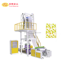 2017 1500mm double head high speed factory direct sale film blowing machine,square bottom plastic bag making machine