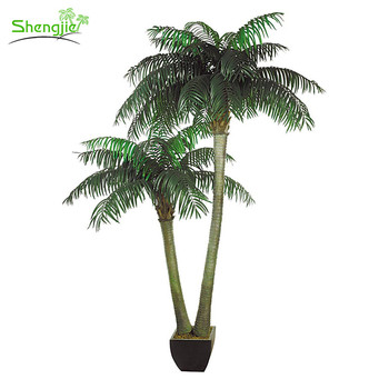 Hot Product Firepooof Artificial Indoor Coconut Palm Trees Plant On ...