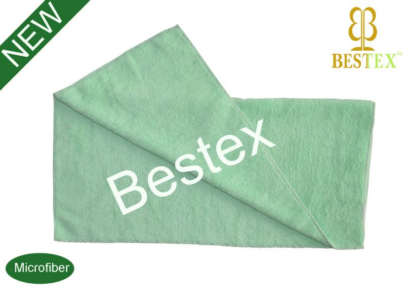 Foshan Bestex Green Terry Cloth Microfiber car cleaning cloth