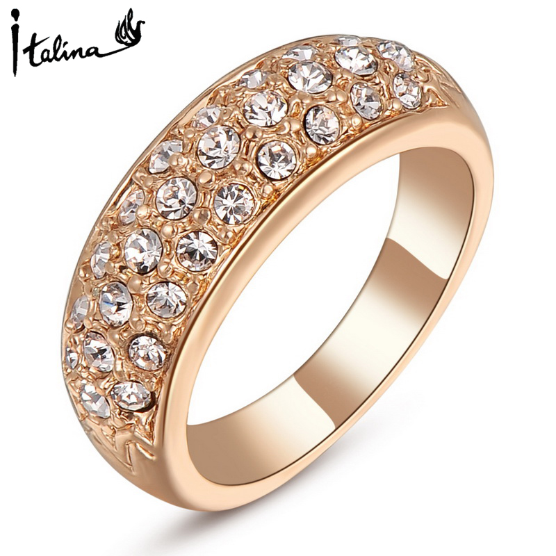 Gold Wedding Ring Price: Italina Rigant Rose Gold Plated Ring Wedding Jewelry Low