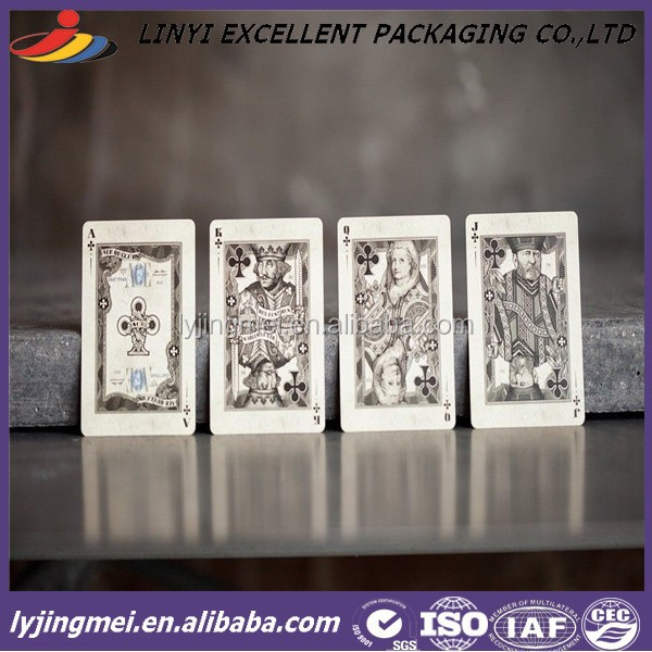 HOT SALE IN 2015 NEW PAPER PALYING CARD