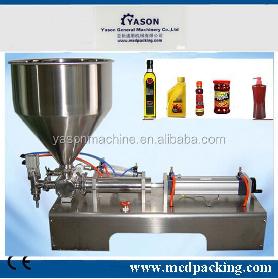 100-1000ml Semi-automatic pneumatic shower gel/hand cream/ Shampoo filling machine