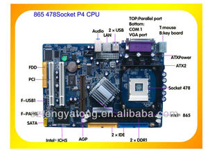 combo motherboard direct supplier msi 865 Socket LGA 478