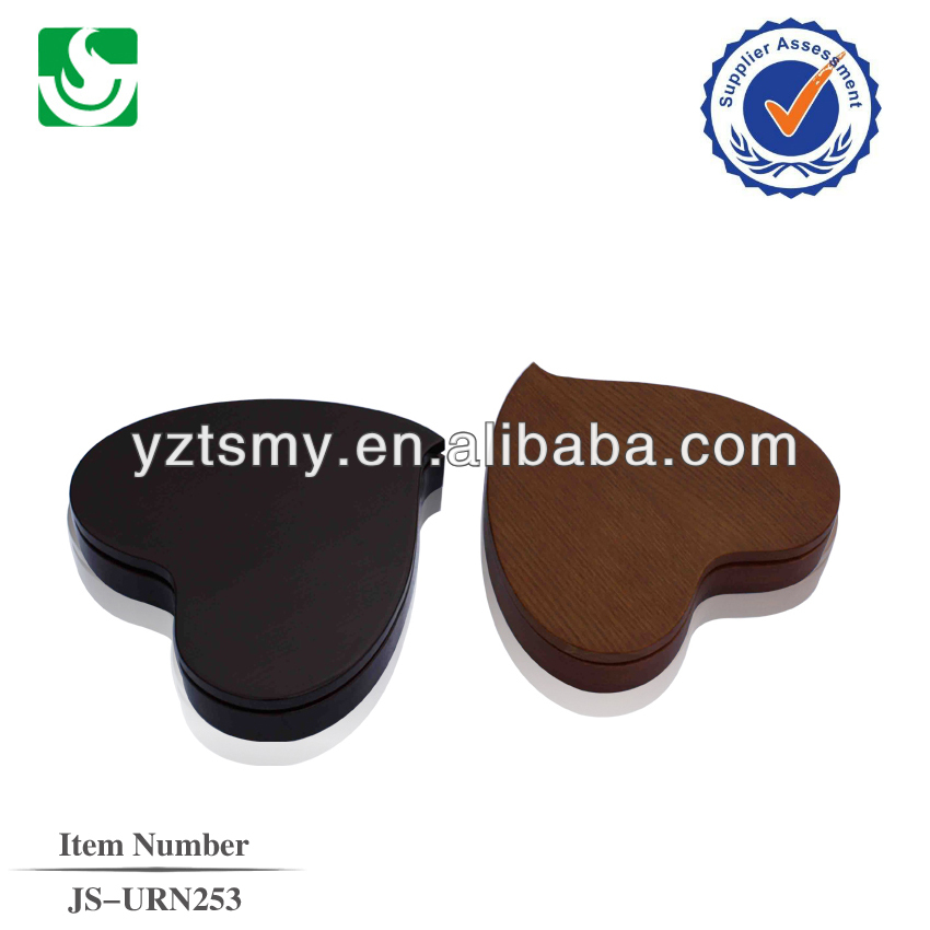 Competitive solid wooden quality heart cremation urns