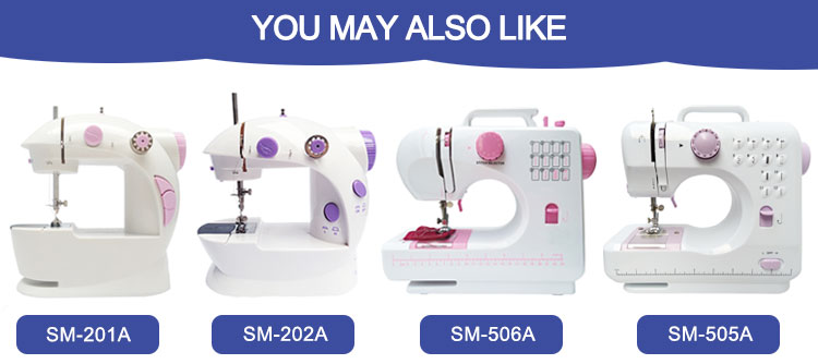 easy stitch portable mini clothes sewing machine with led light