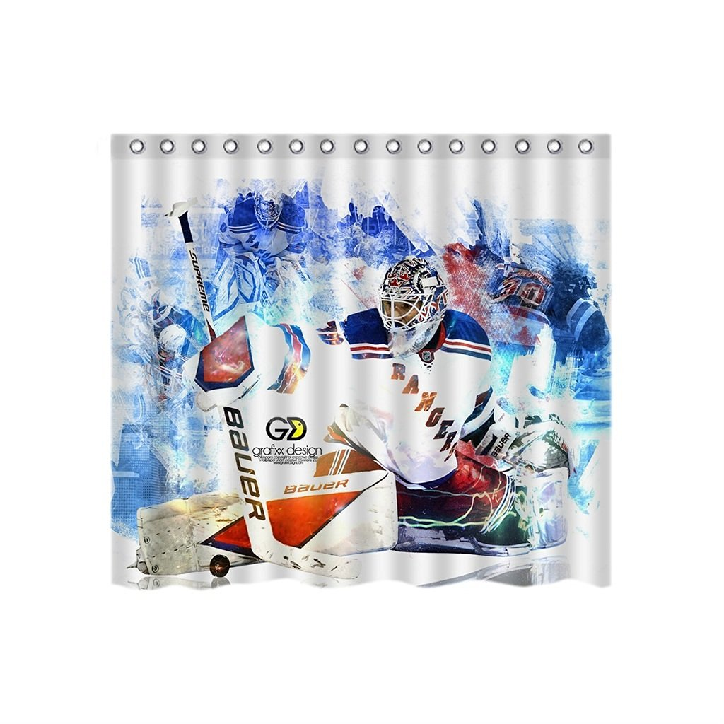 Get Quotations Custom New York Rangers Waterproof Bathroom Shower Curtain Print Mom Gift Ideas Polyester Fabric