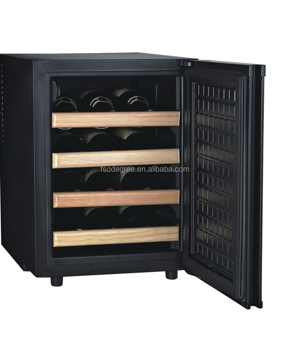 12 bouteilles mini cave vin thermo lectrique cave vin silencieux cave vin r frig rateur. Black Bedroom Furniture Sets. Home Design Ideas