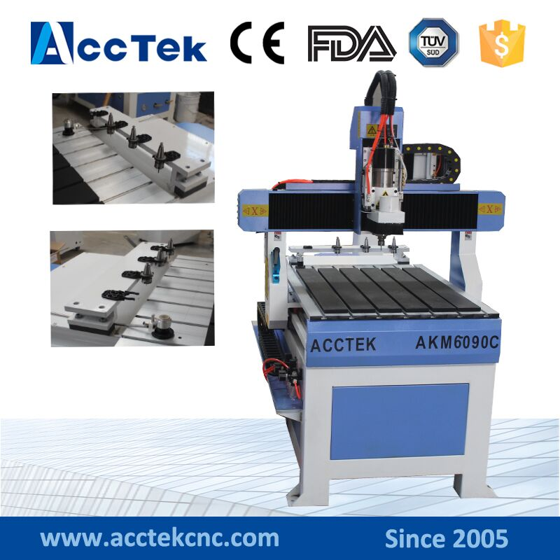 Small 6090 linear ATC cnc router for wood furniture cnc router 6090 mach3