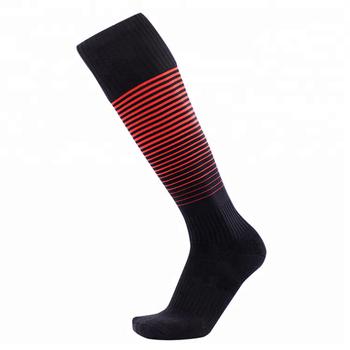 6cb390fba2b3 2018 New design Football Socks Custom logo soccer socks for Free Sample