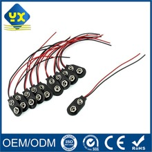 OEM Factory Price 9V Battery Snap Clip Lead with Wire Cable