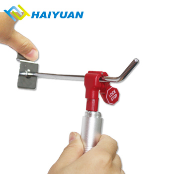 Digital shop display rack hook lock magnetic plastic slatwall stop lock for stem hooks