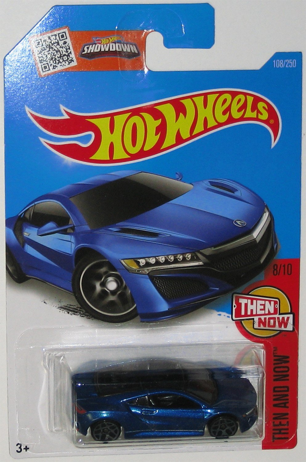 Get Quotations · Hot Wheels, 2016 Then and Now, '17 Acura NSX [Blue] 108