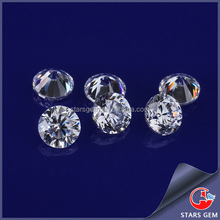Factory price white color brilliant cut loose round drilled cubic zirconia
