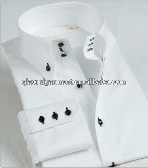 7cbf44b0b98dc جودة عالية تناسب الثوب الأبيض العصرية  قميص رجالي رسمية طويلة الأكمام ياقة  عالية