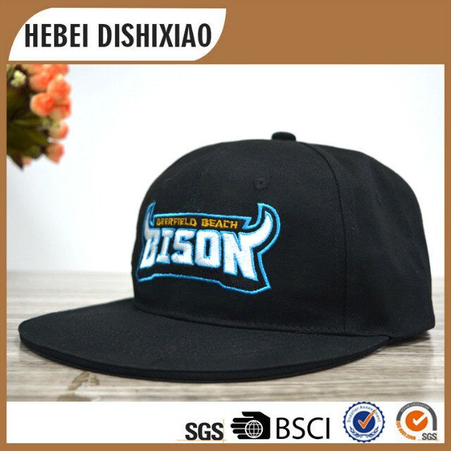 Factory supply custom embroidered snapback hat print /embroider logo snapback caps/flat brim caps
