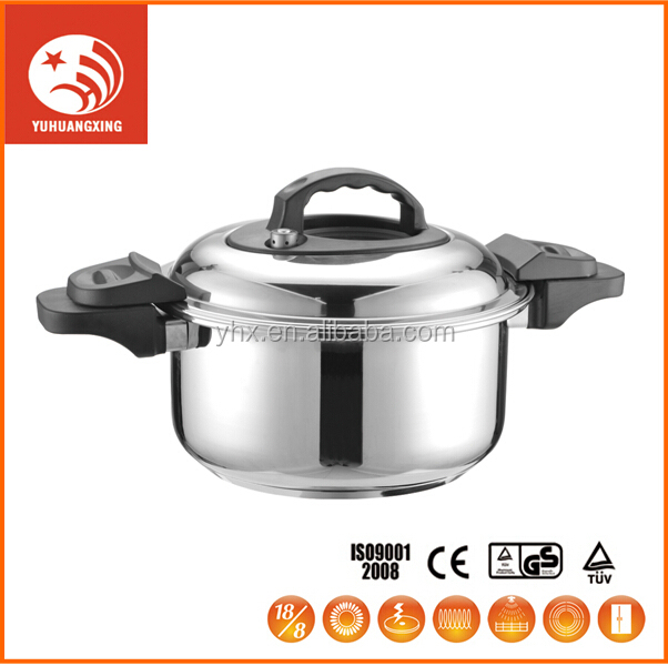 stainless steel low pressure cooker and slow cooker cooker