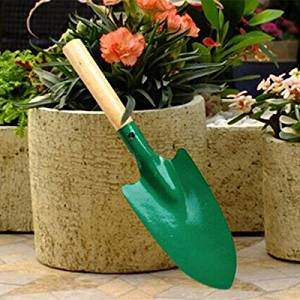 Mini Wooden Handle Iron Shovel Gardening Flower Planting Trowel Tool / Mini Wooden Handle Iron Shovel Gardening Planting Trowel Tool . . This shovel is a necessary tool for garden, which can be