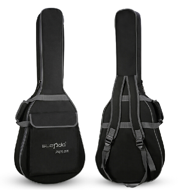 Padded Classic Acoustic Guitar Bass40 41 Inch Back Carry Cover Case Bag Holder 5mm Shoulder Straps Music Student